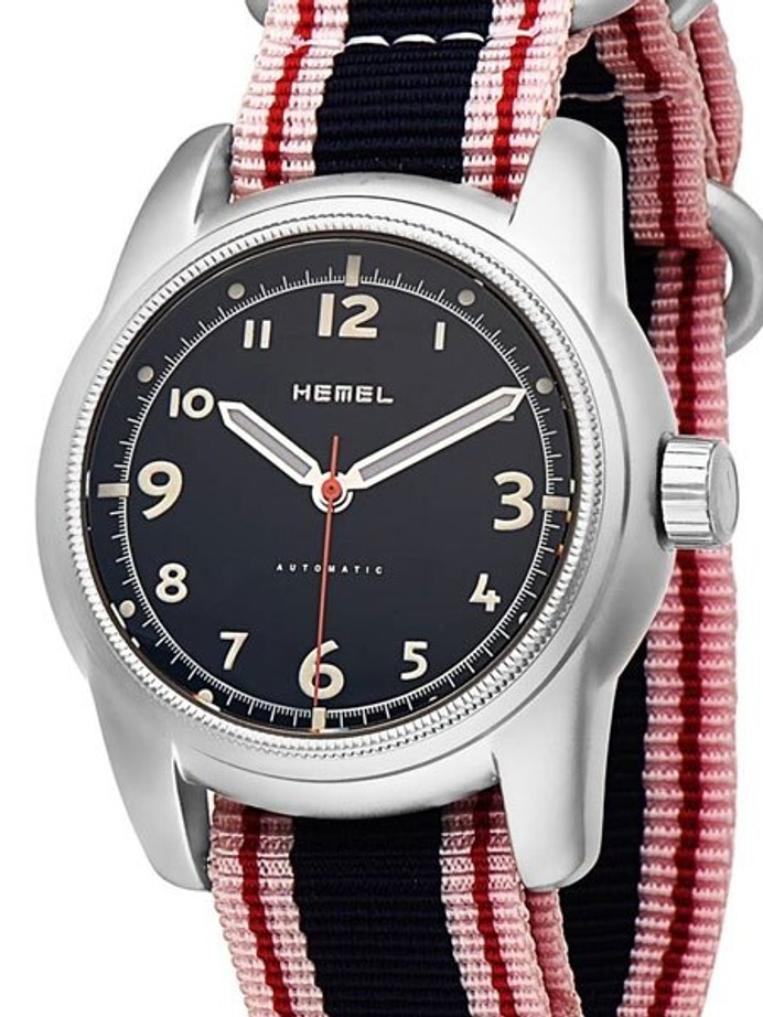 HEMEL Spear Automatic Military-Styled Watch with Bead Blasted Case and Sapphire Crystal #HM4B