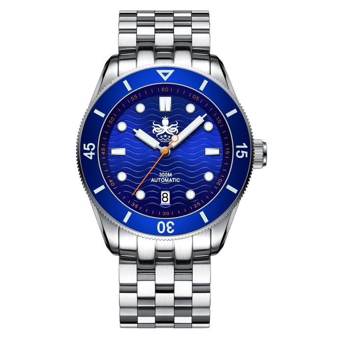PHOIBOS Wave Master 300-Meter Automatic Dive Watch with AR Sapphire Crystal #PY010B