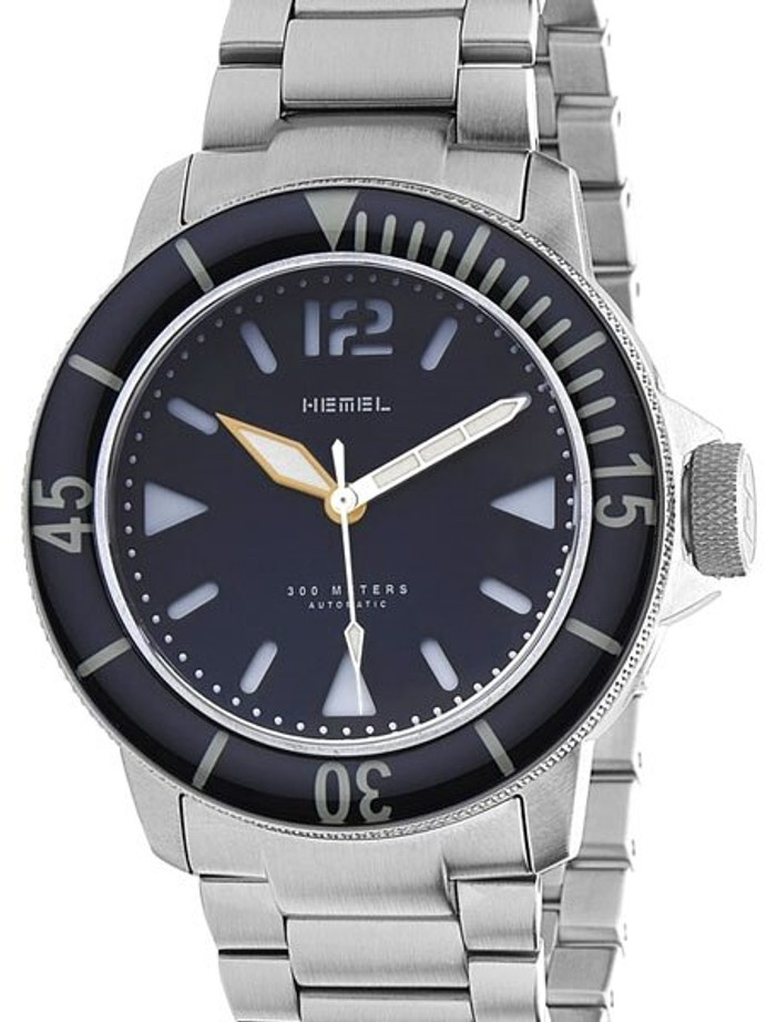 HEMEL 300-Meter Automatic Dive Watch with Luminous Bezel and AR Sapphire Crystal #HD1-02