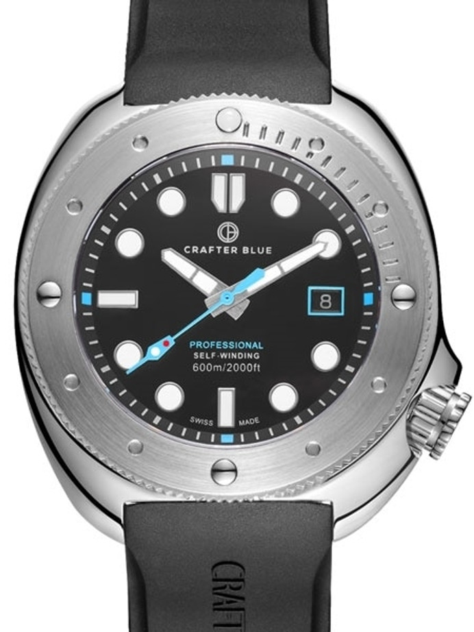 Crafter Blue Swiss Made 600-Meter Hyperion Ocean Diver with Swiss Automatic Movement  #HOSS001B-R