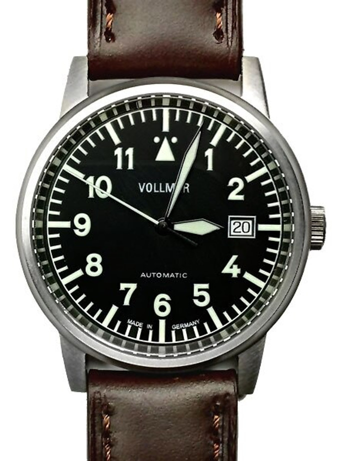 Vollmer Aerodyne Swiss Automatic Watch with Sapphire Crystal, 38.5mm Titanium Case #V5H84