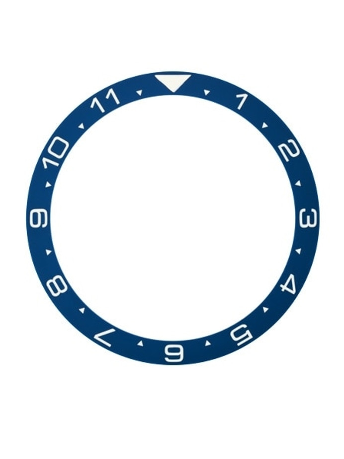 Dark Blue Ceramic Luminous Dual-Time Bezel Insert for Seiko SKX007, SKX009, SKX011 #C37