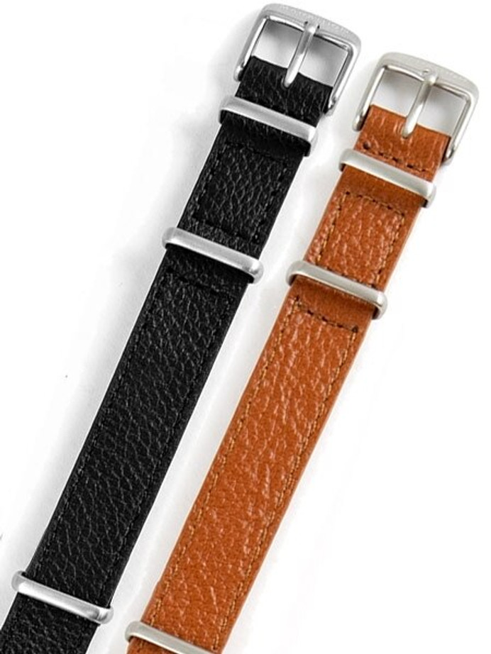 Marathon 16mm Leather One-Piece Strap #WW005012