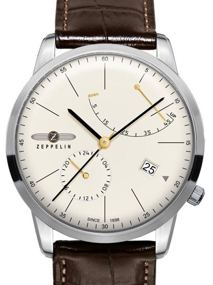 Graf Zeppelin LZ129 Flatline Automatic Watch with Power Reserve #7366-5