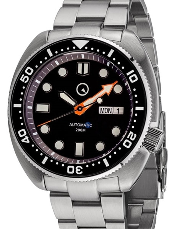 Islander Black Dial Automatic Dive Watch with AR Double Dome Sapphire Crystal, and Luminous Ceramic Bezel Insert #ISL-30