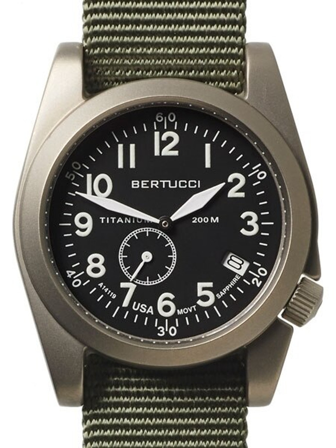Bertucci  A-11T Americana Titanium Watch with Defender Drab Nylon Strap #13334