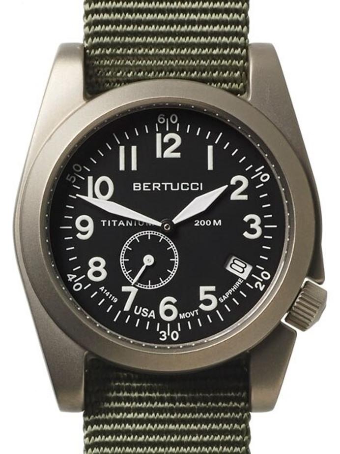 Bertucci  A-11T Americana Titanium Watch with Defender Drab Nylon Strap #13334