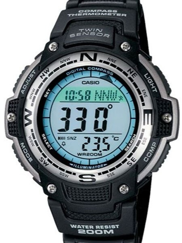 Casio Digital Compass Twin Sensor Sports Watch with Temperature #SGW-100-1V