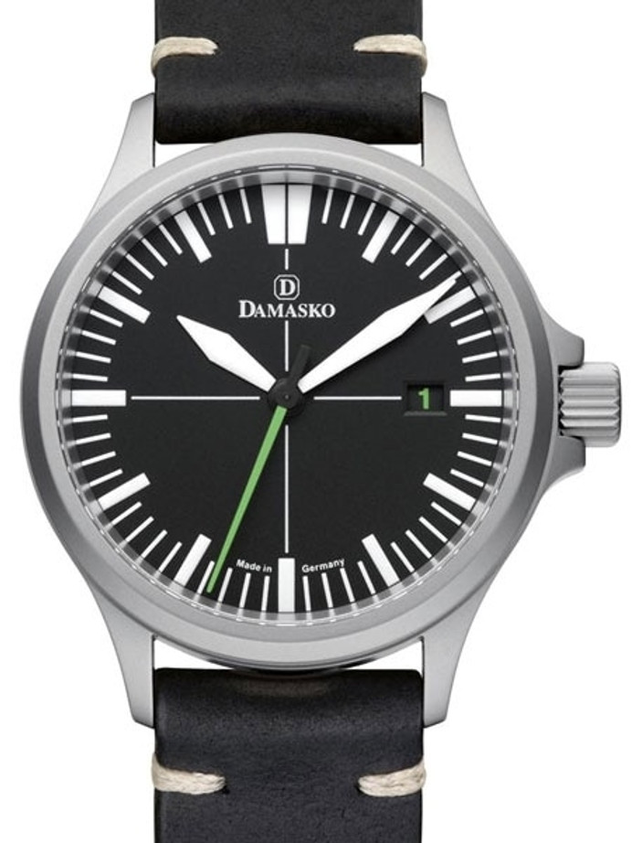 Damasko Swiss DS30 Automatic Watch with a 39mm Bead-Blasted Submarine Steel Case #DS30-GREEN