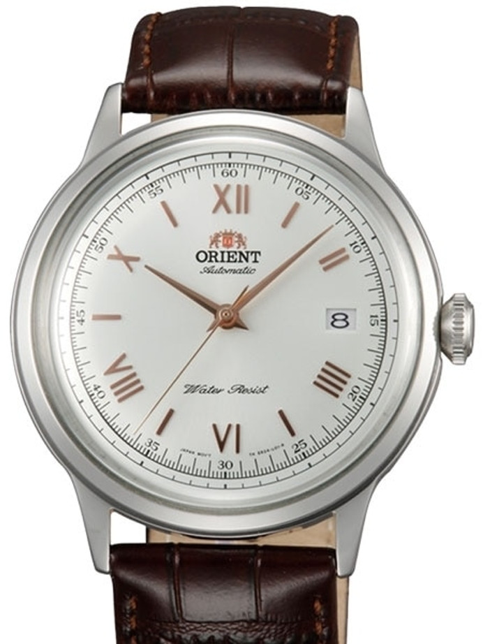 Orient Automatic Dress Watch with White Dial, Roman Numeral Markers #ER2400BW