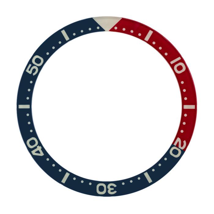Blue-Red Luminous Sapphire Bezel Insert for Seiko SKX007, SKX009, SKX011 #C29