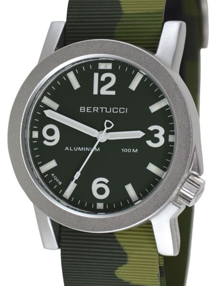 Bertucci Experior Anodized Aluminum Unibody Watch with Italian Rubber Strap #16513