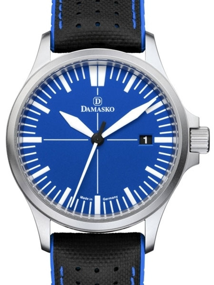 Damasko Swiss DS30 Ocean Automatic Watch with a 39mm Bead-Blasted Submarine Steel Case #DS30