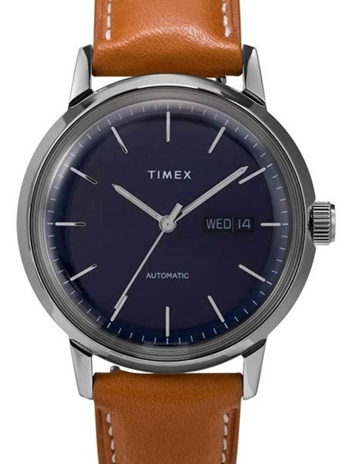 Timex 40mm Marlin 21-Jewel Automatic Watch with Stainless Steel Case and Dark Blue Dial #TW2U38400ZV
