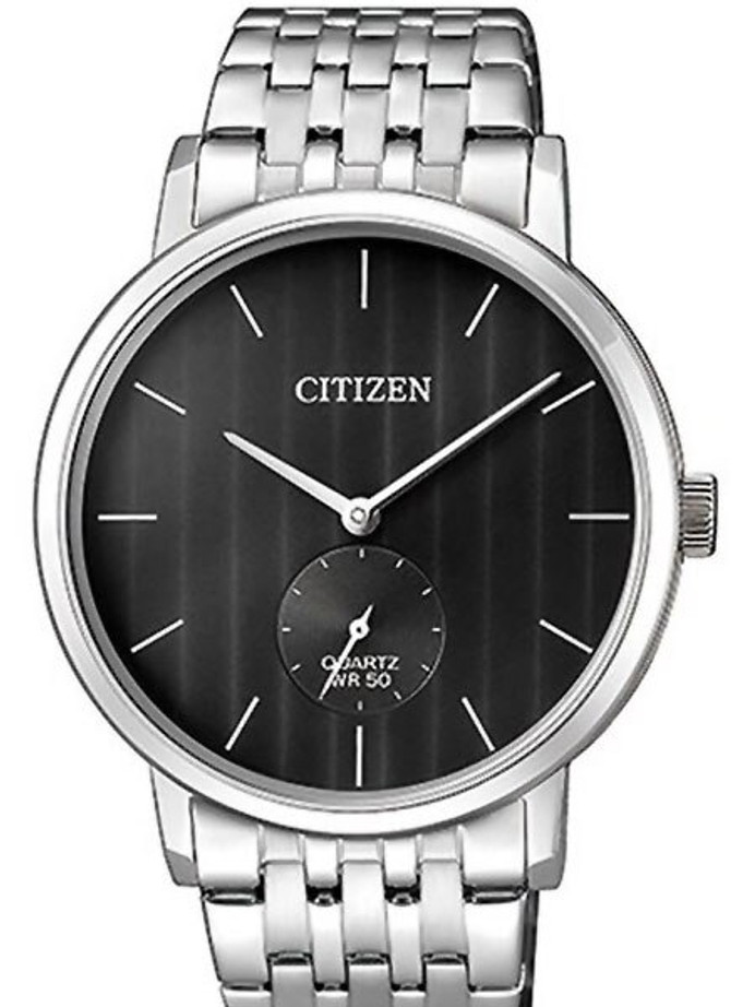 Citizen Quartz Dress Watch with Black Dial and SS Bracelet #BE9170-56E