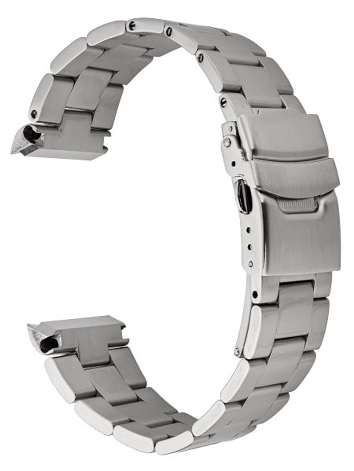 Islander 22mm Brushed Solid-Link Watch Bracelet for Islander ISL-31 and Seiko Turtle Watches Curved End #BRAC-04