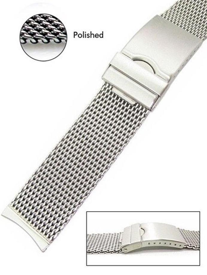 Vollmer Polished Mesh Bracelet #99464H4C (24mm)