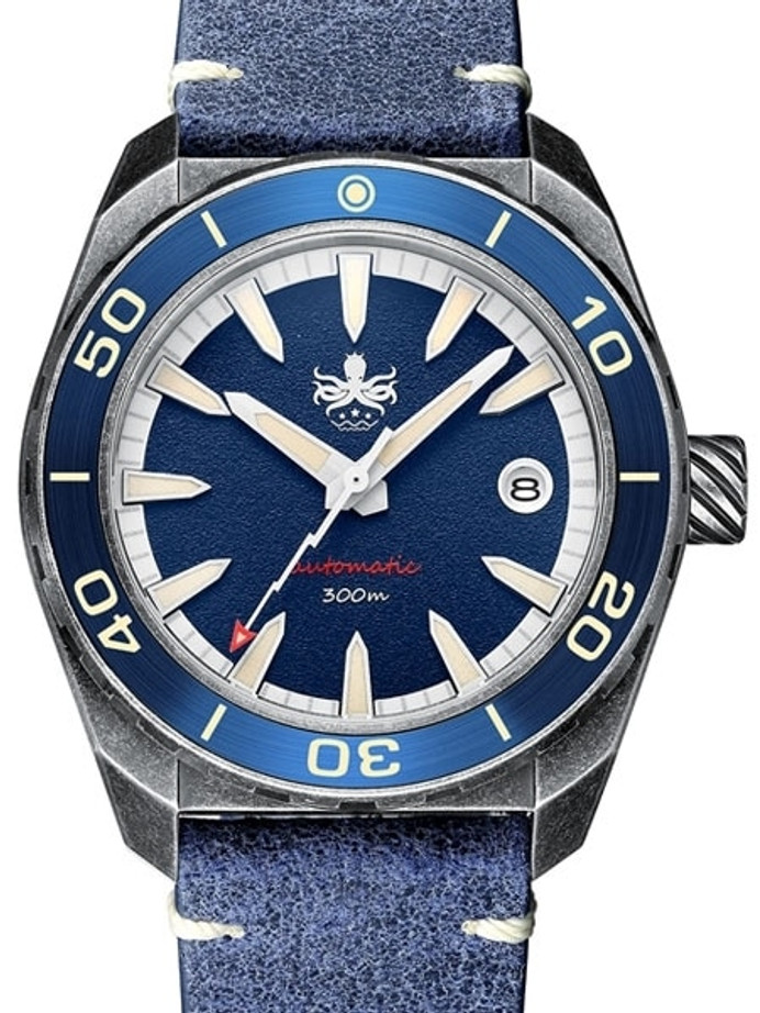 PHOIBOS Blue Proteus 300-Meter Automatic Dive Watch with AR Double Dome Sapphire Crystal #PY028B