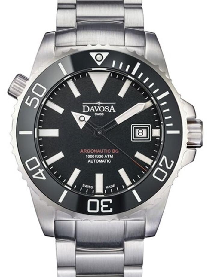 Davosa Argonautic BG Swiss Automatic 300 Meter Dive Watch with Black Dial #16152202