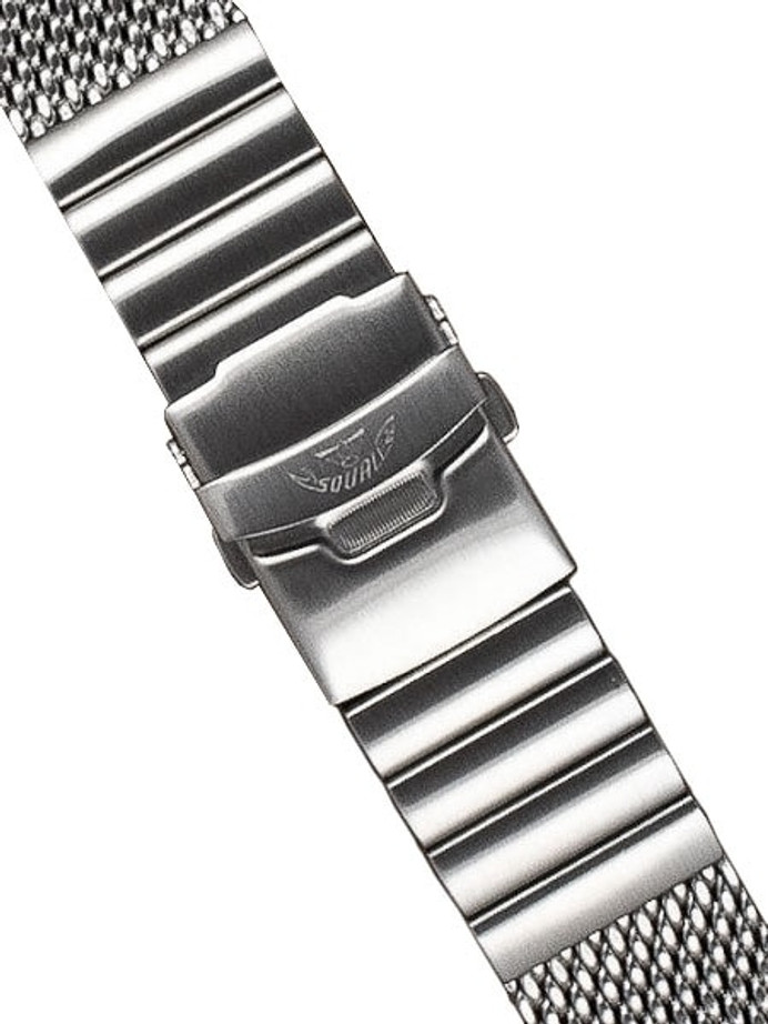 Squale 22mm Deluxe Stainless Steel Mesh Bracelet #2002-Mesh-S (22mm)