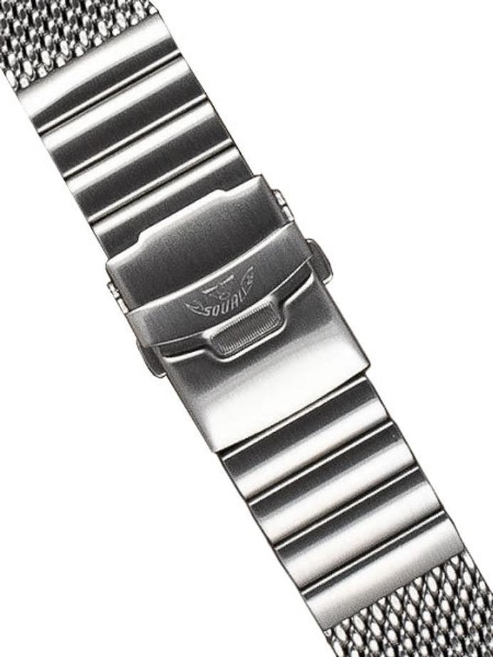 Squale 22mm Deluxe Stainless Steel Mesh Bracelet #2002-Mesh-S (22mm)