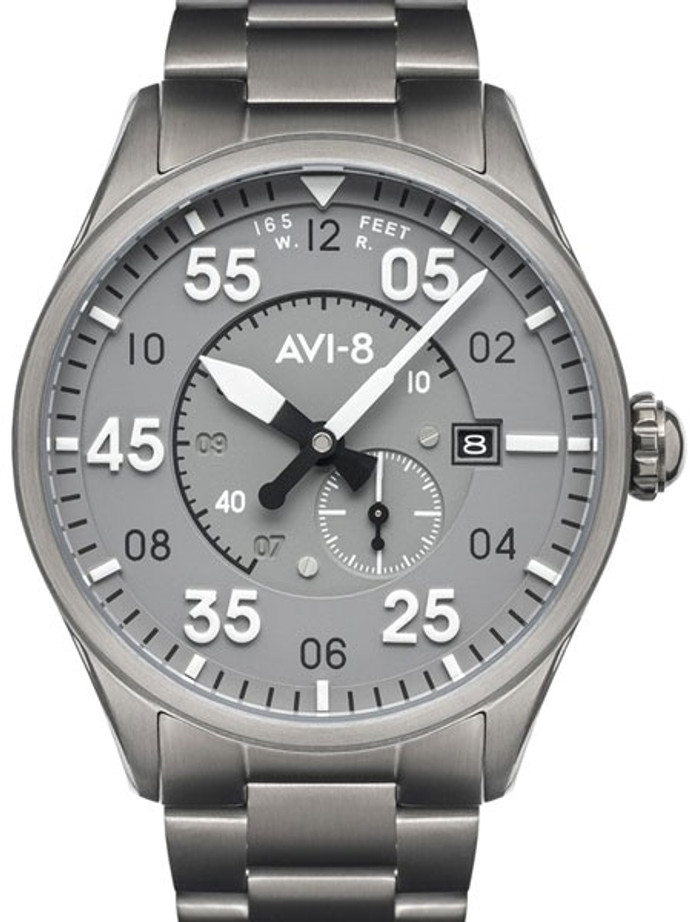 AVI-8 Spitfire Type 300 Edition, 21-Jewel Automatic Pilot Watch, AR Sapphire Crystal#AV-4073-44