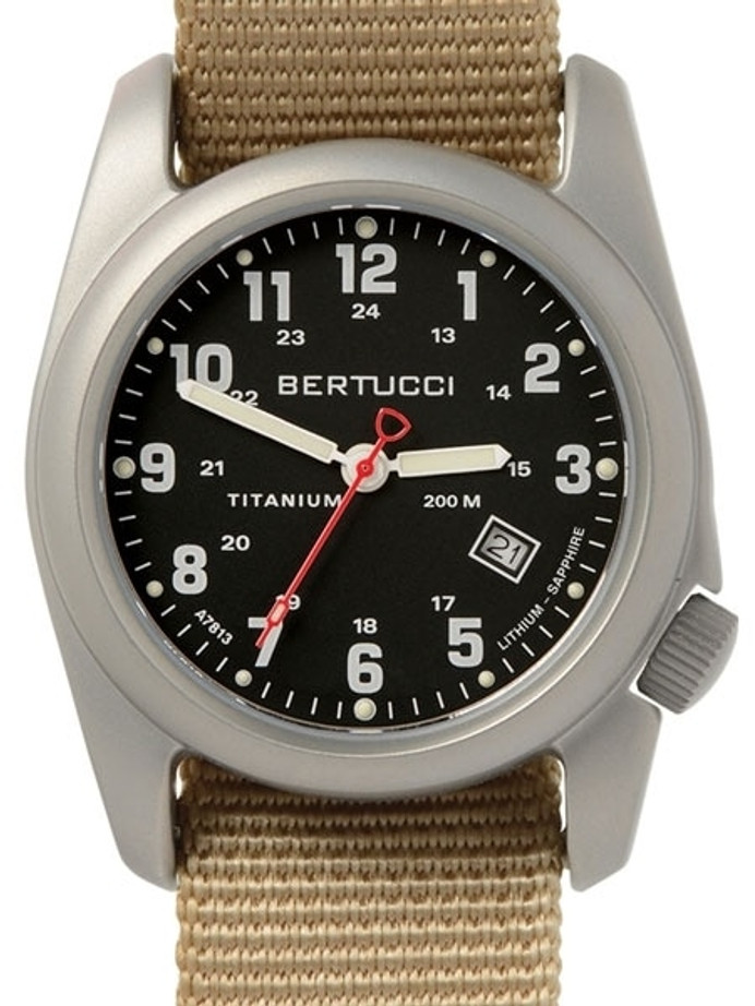 Bertucci A-2T Special Edition A-2T Classic Titanium Watch with 10-Year Lithium Battery #12724