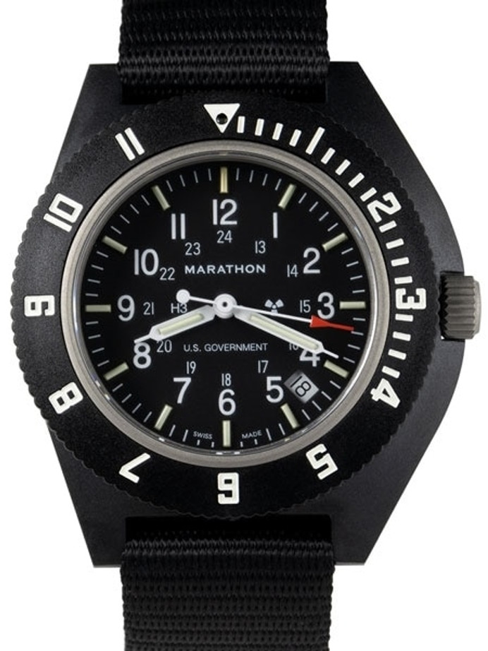 Marathon Swiss Made Quartz Military Navigator Pilot Watch with Tritium Illumination #WW194013
