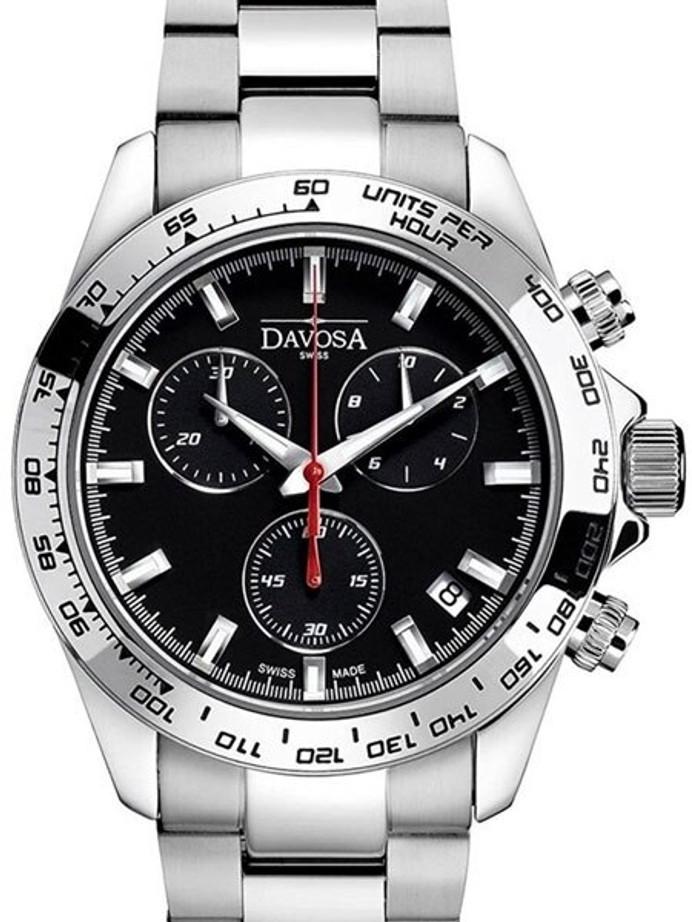Davosa Speedline Quartz Chronograph Watch with 30 Minute Stopwatch #16347055