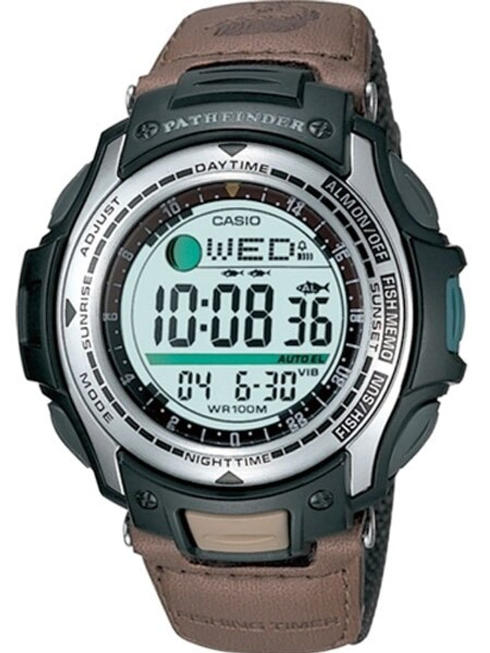 Casio Sports-Style Pathfinder Forester Fishing Moon Phase, Alarm Watch #PAS-400B-5V