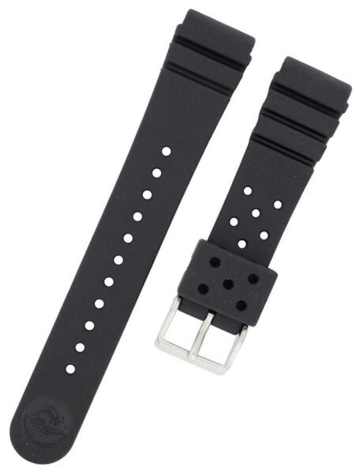 Seiko 22mm Rubber Dive Strap For Model Series SKX173 Watch #4F24ZZ