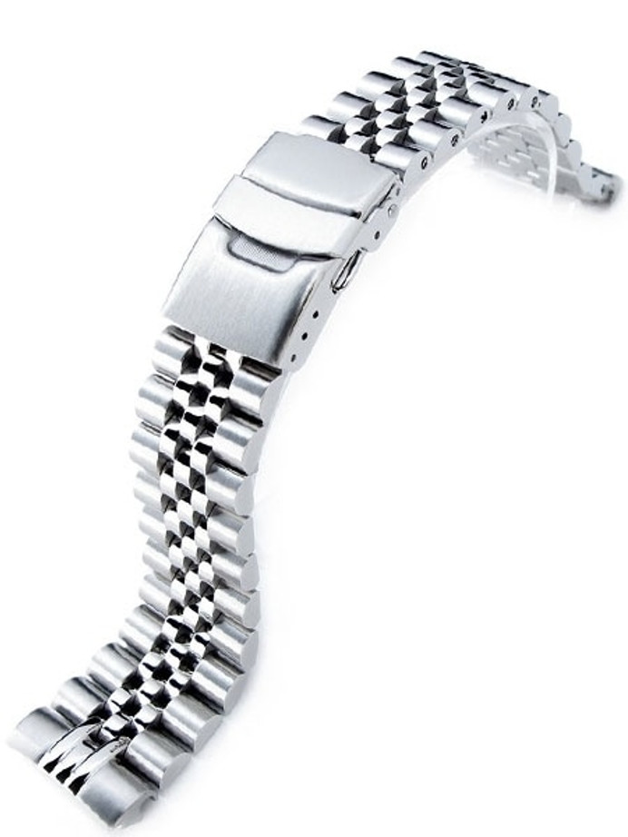 """Strapcode 22mm Super-J """"Louis"""" 316L Stainless Steel Watch Bracelet for Seiko New Turtle Watches #SS221803B046"""