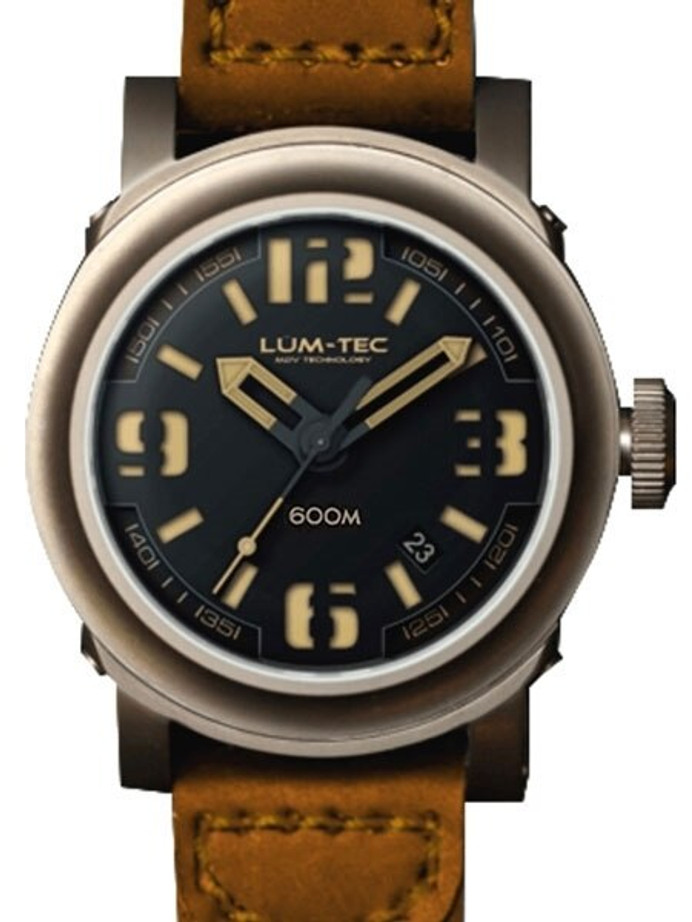 Lum-Tec 48mm High-Beat Automatic Watch with AR Sapphire Crystal #600M-3