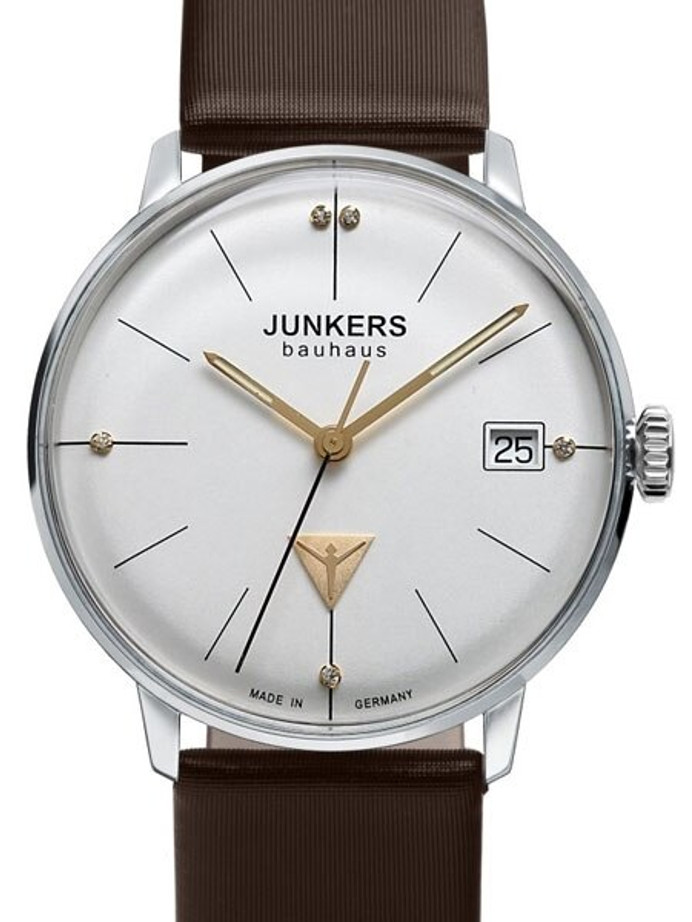 Junkers Lady Bauhaus Swiss Quartz Watch with Domed Hesalite Crystal #6073-4