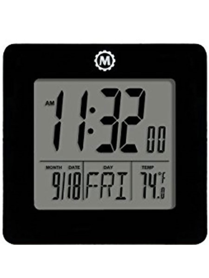 Marathon Desktop Clock with Calendar, Temperature, Alarm #CL030050K