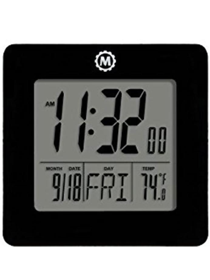 Marathon Desktop Clock with Calendar, Temperature, Alarm #CL030050K