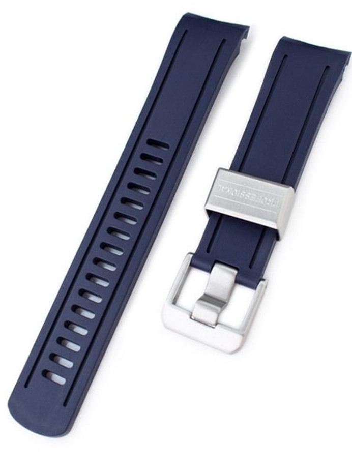 Crafter Blue 22mm NBR Rubber Watch Strap for SEIKO SKX007-009-011 Curved End #CB05B-22A20BZZ