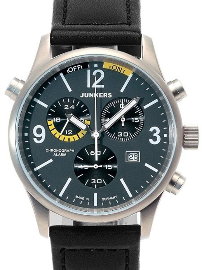 Junkers  G-38 Chronograph Titanium Watch with Alarm Function #6296-5