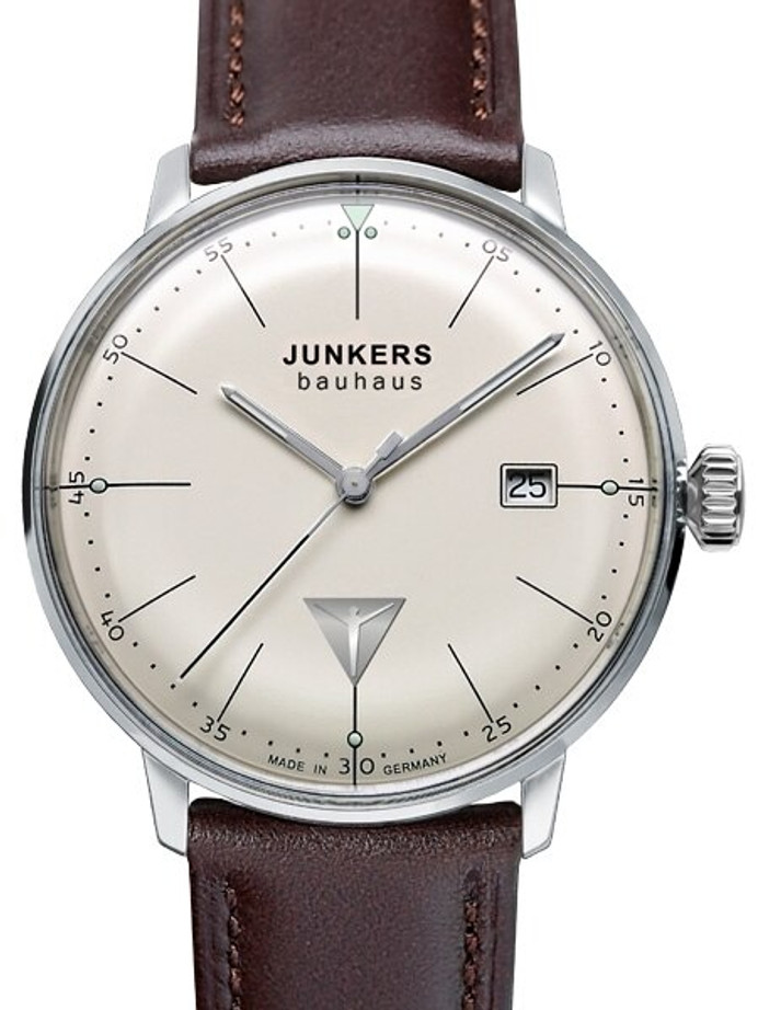 Junkers Bauhaus Swiss Quartz Watch with Domed Hesalite Crystal #6070-5