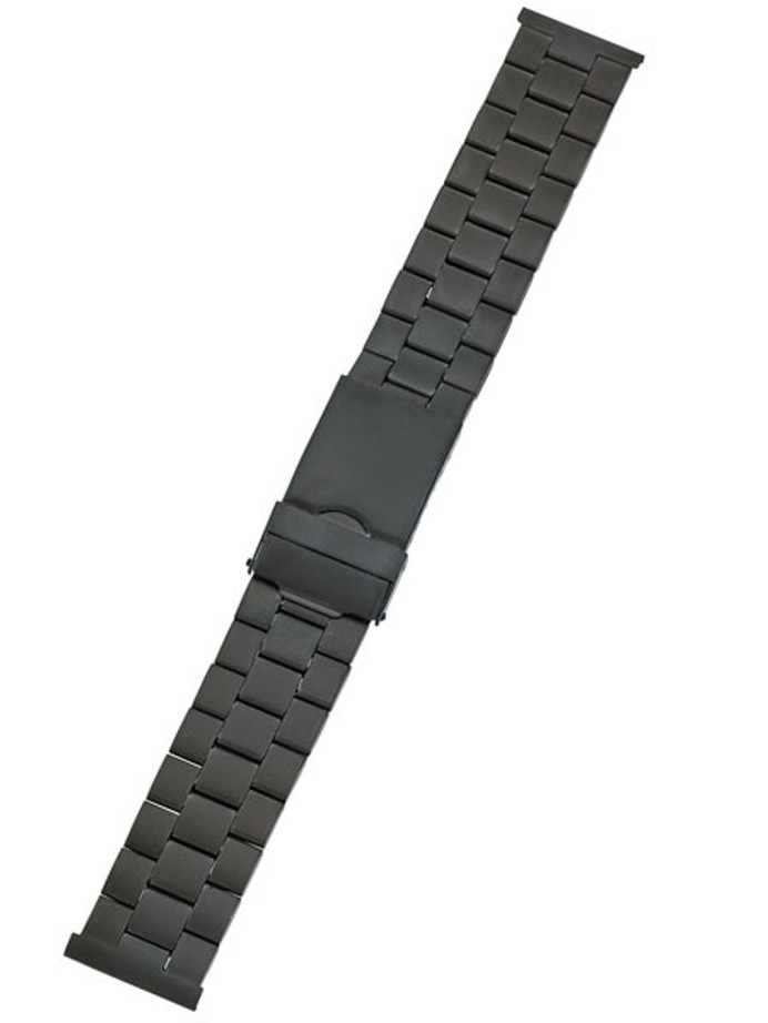 Vollmer Black PVD Bracelet with Deployant Clasp #03382H0 (22mm)