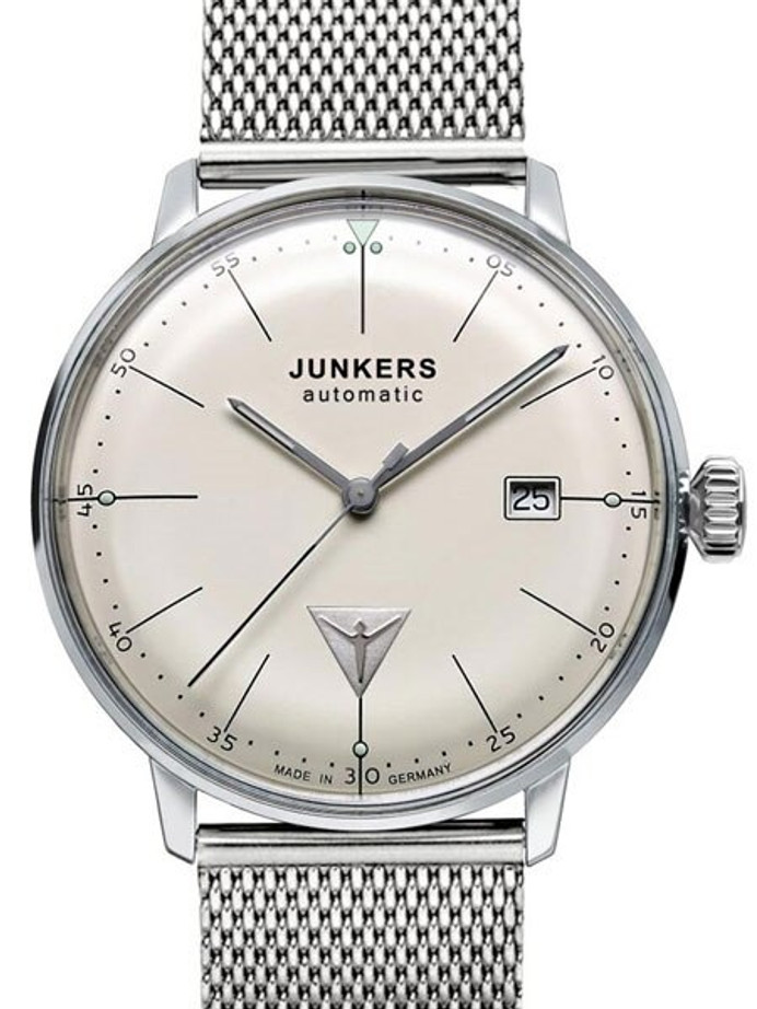 Junkers Bauhaus Swiss Automatic Watch with Domed Hesalite Crystal #6050M-5