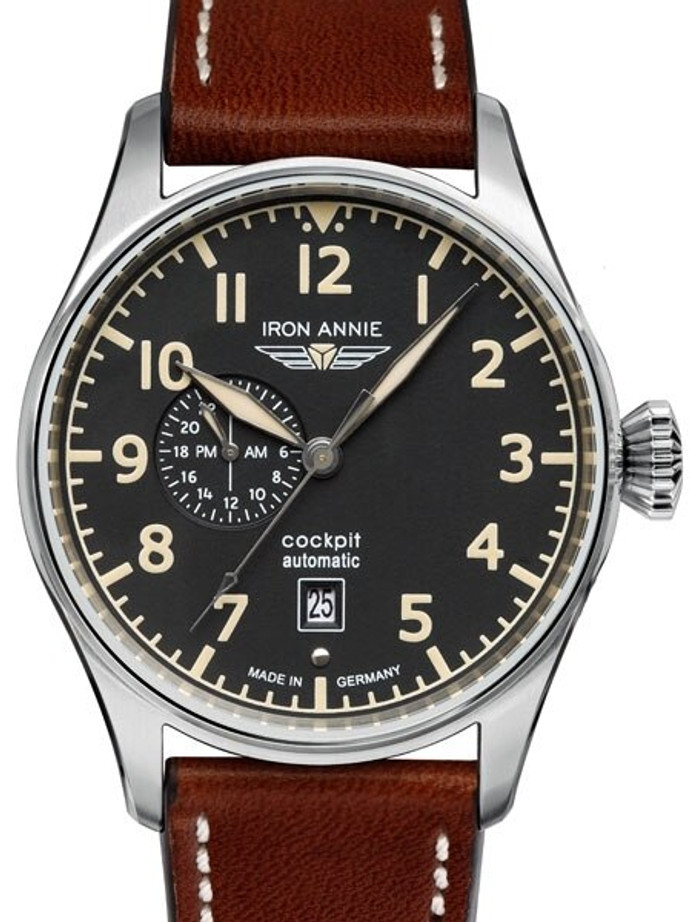 Iron Annie Automatic Watch with 42mm Case and 24-hour Sub-Dial #5168-2