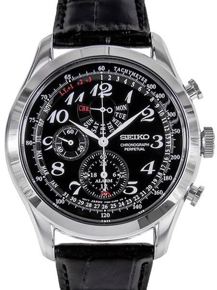 Seiko Neo Classic Chronograph with Perpetual Calendar, Alarm #SPC133P1