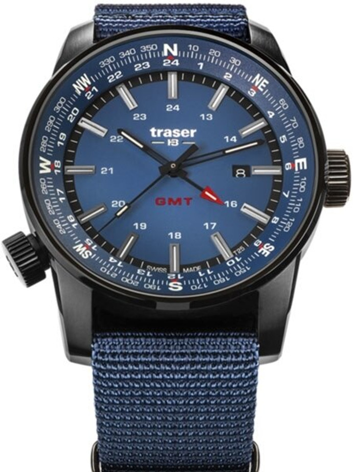 Traser P68 Pathfinder GMT Swiss Quartz Watch with Compass, AR Sapphire Crystal #109034