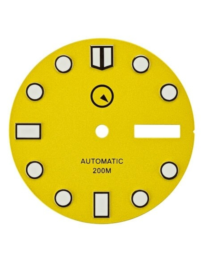 Yellow Dial with SuperLuminova for Seiko 7S26, NH36 and 4R36 Movements #D05