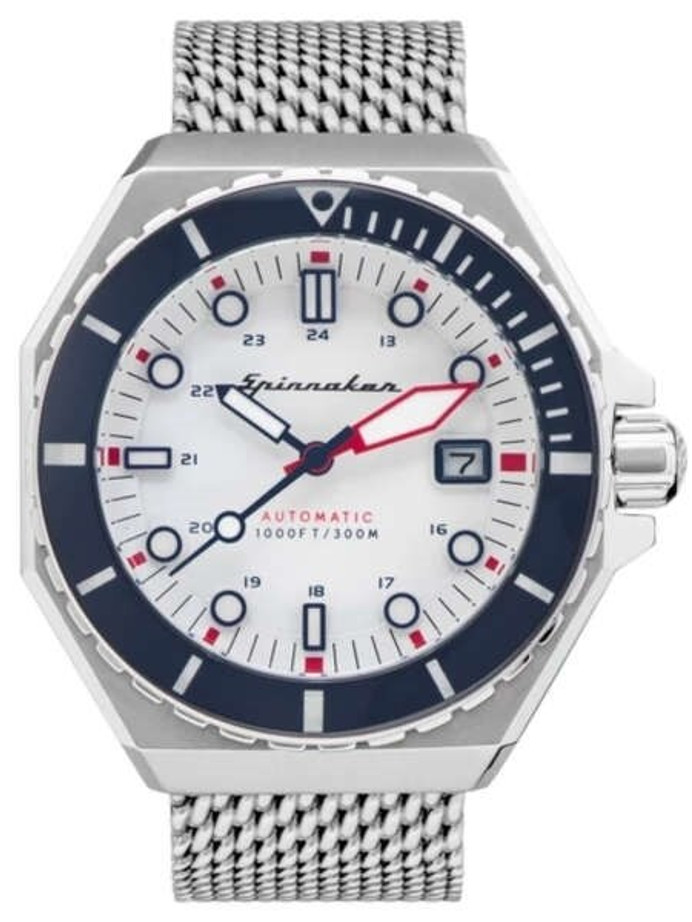 Spinnaker Dumas Automatic 300 Meter Dive Watch with Stainless Steel Mesh Bracelet #SP-5081-33