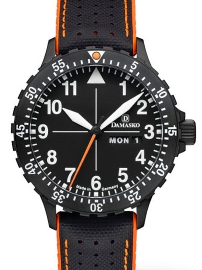 Damasko Swiss ETA Automatic with a Rotating 60-Minute Bezel and Black ion plated SS Case #DA42