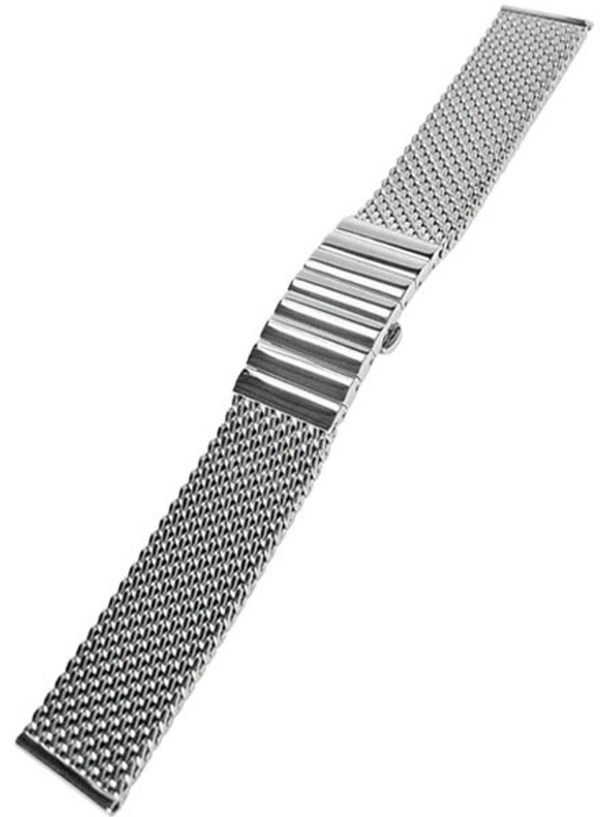 STAIB Satin Finish Mesh Bracelet #STEEL-2792-1192PBL-S (Straight End, 20mm)