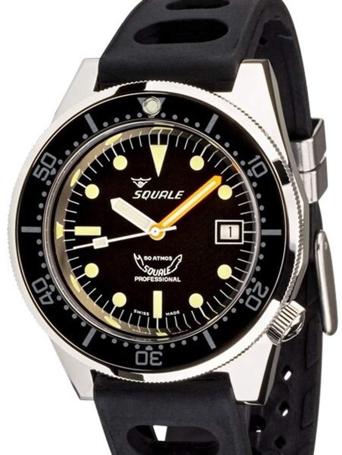 Squale 500 meter Professional Swiss Automatic Dive watch with Sapphire Crystal #1521-026-A