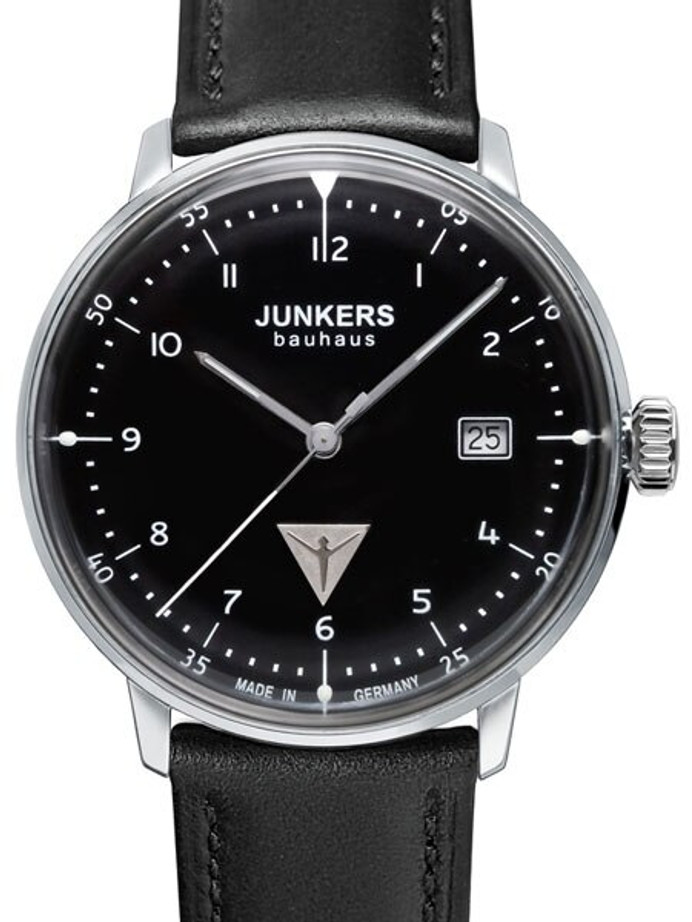 Junkers Bauhaus Swiss Quartz Watch with Domed Hesalite Crystal #6046-2